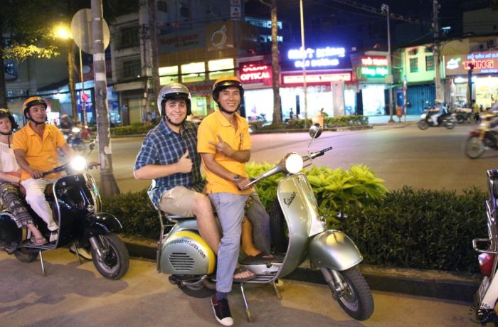 Explore Saigon's Nightlife By Vespa Motorbike
